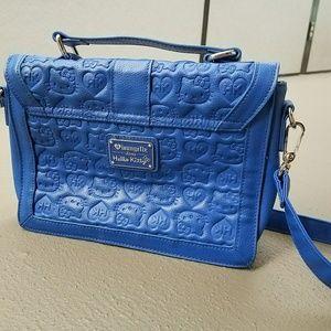 400cdec3f Hello Kitty Bags - Blue Hello Kitty Embossed Satchel